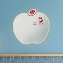 Apple-Like Plastic Wall Mount Lighting Cartoon White/Pink/Yellow LED Sconce Lamp Fixture with Little Worm Pattern