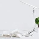 Linear Metallic Flexible Task Lighting Modern LED Silver Reading Lamp with USB Port