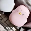 Penguin Shape Bedroom Night Light Plastic LED Cartoon-Style Nightstand Lamp in White/Grey/Pink