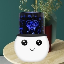 Plastic Snow Man Projection Night Light Cartoon Style LED White Night Table Lamp