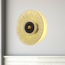 Gold Cutouts Starburst Disc Wall Lamp Minimalist Iron LED Sconce Lighting Fixture for Living Room