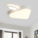 Mushroom Flushmount Lighting Contemporary Acrylic White LED Ceiling Mounted Fixture for Bedroom in Warm/White Light