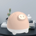 Snoring Pig Shape Rechargeable Night Light Cartoon Silica Gel LED Bedroom Night Lamp in White/Pink/Yellow