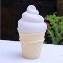 Ice Cream Shape Plastic Mini Night Light Cartoon White/Pink/Yellow LED Night Lamp for Child Room