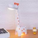 Giraffe Shape Study Room Table Light Plastic LED Cartoon Touching Reading Lamp in White/Pink/Yellow