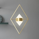 Minimalist Rhombus Wall Mounted Lamp Metallic 10