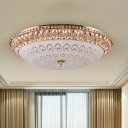 Dome Dining Room Flushmount Modernism Crystal Glass 16