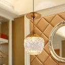 Gold LED Suspension Light Art Deco Clear Crystal Glass Wine Glass/Bottle Shape Hanging Ceiling Lamp