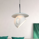 Coffee Cup Cement Hanging Light kit Macaron 1 Head White/Blue/Yellow Finish LED Pendant Ceiling Lamp