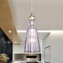 Minimalist Conical Drop Pendant Light 1 Light Clear Crystal Glass Hanging Lamp Fixture