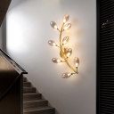 Grape Like Metal Sconce Light Modernist 9 Heads Gold Finish Wall Mounted Lamp for Stairway