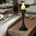 Metal Brass/Bronze Desk Lighting Candelabra 1-Head Factory Table Lamp with Column Base for Bedroom