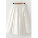 New Trendy Womens Solid Color Drawstring Waist Pleated Cropped Culottes Pants