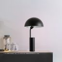1 Bulb Living Room Table Lighting Macaron Black/Light Green Finish Desk Lamp with Dome Iron Shade