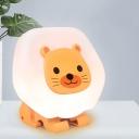 Pink/Yellow Cute Sitting Lion Night Light Cartoon LED Plastic Night Lamp for Child Bedroom