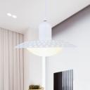 Aluminum Hollowed Dosa Hanging Light Modern 1 Head 12