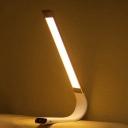 Pink Bending Rectangle Desk Lighting Minimalist LED Metal Reading Lamp for Study Room