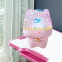 Piglet/Puppy Shaped Plastic Night Table Light Cartoon White/Pink Finish LED Rechargeable Projection Night Lamp