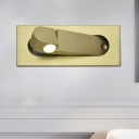 Ellipse Rotating Flush Mount Wall Sconce Minimalist Aluminum Bronze/Coffee LED Wall Reading Light in Warm/Natural Light