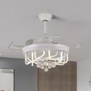 4-Blade Acrylic Linear Semi Flush Lamp Fixture Modern 19