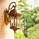1 Light Wall Light Sconce Traditional Clear Glass Birdcage Wall Mount Lamp in Bronze
