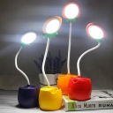 Fruit Reading Light Macaroon Plastic LED Bedroom Night Table Lamp with Pen Container in Red/Yellow/Purple