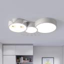 Caterpillar LED Flush Mount Ceiling Light Cartoon Iron Pink/White/Blue Flushmount Light for Kids Room