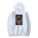 Letter Friends Cartoon Graphic Long Sleeve Pouch Pocket Loose Fit Trendy Hoodie for Boys