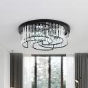 Whirling Strip Crystal Flush Mount Light Modern Bedroom 16