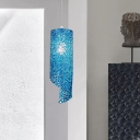 Spiral Kitchen Pendant Lamp Aluminum Wire Woven 1 Head Modern Hanging Light in Silver/Gold/Blue
