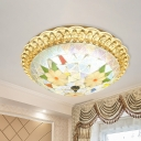 Stained Glass Flush Mount Tiffany Style 16