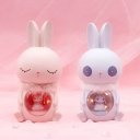 White/Pink Rabbit LED Table Stand Light Cartoon Resin Battery Night Lamp for Kids Bedroom