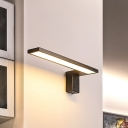 Black/White Linear Wall Mount Lamp Minimalist Metal Led Reading Wall Lighting in Warm/White