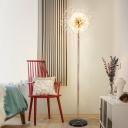 Starburst Faceted Crystal Floor Light Modern LED Living Room Standing Lighting in Silver