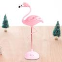 LED Bedroom Night Table Light Cartoon Pink Nightstand Lamp with Flamingo Plastic Shade