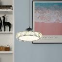 Loop Restaurant Pendant Lighting Modern K9 Crystal LED Chrome Hanging Light in Warm/White Light