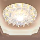 Clear Crystal White Flushmount Lighting Flared LED Modern Ceiling Flush Mount in Warm/White/Multi Color Light