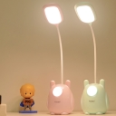 Pink/Green Animal Night Light Cartoon LED Plastic Study Lamp with Touch Switch for Kids Bedroom