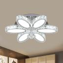 Minimalism Oval Ceiling Lighting 6/8 Lights Clear K9 Crystal Flush Mount for Living Room