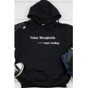 Valar Morghulis Not Today Letter Long Sleeve Drawstring Pouch Pocket Relaxed Popular Hoodie for Girls