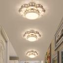 Gold Flower Ceiling Mounted Light Modernism Cut Crystal 10