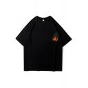 Chic Guys Monster Patterned Short Sleeve Crew Neck Oversize T Shirt