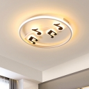 Nordic Rhythm Super Thin Ceiling Lighting Acrylic Bedroom LED Flush Mount Light Fixture in Warm/White Light