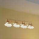 Ginkgo Leaf Bath Vanity Light Modern Seedy Crystal Gold Finish LED Wall Mounted Lamp