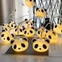 Panda String Light Ideas Cartoon Plastic 40-Bulb White Battery/USB Powered LED Fiesta Lamp, 6M