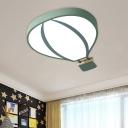 Hot Air Balloon Acrylic Flushmount Lamp Nordic Style White/Grey/Green Finish LED Flush Mount Light