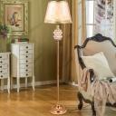 Tiered Standing Floor Light Minimalist Crystal Block Single Living Room Floor Lamp in Gold