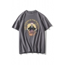 Leisure Guys Letter The Clown in The Flowers Clown Graphic Short Sleeve Crew Neck Relaxed T Shirt