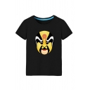 Yellow Opera Printed Short Sleeve Round Neck Relaxed Fit Fashion T Shirt for Men
