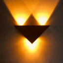 Triangle Stage Wall Lighting Ideas Aluminum LED Modern Sconce Lamp in Multi Color/Purple/Green Light, Silver